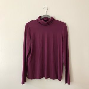 Eileen Fisher Turtkeneck Rayon blouse top M